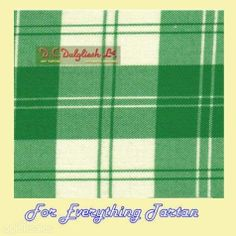 Erskine Dress Green Dalgliesh Dancing Tartan Wool Fabric 11oz Lightweight  by JMB7339 - $115.00