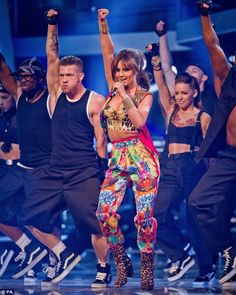 The gorgeous Cheryl Cole wore a custom-made Roberto Cavalli total look, created especially for her by the designer, for her #live performance on the TV program #TheVoice on BBC Television.