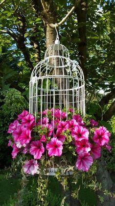 Gartenblumen - Garten Design - Garden Care, Garden Design and Gardening Supplies Diy Garden, Garden Planters, Dream Garden, Garden Projects, Garden Types, Greenhouse Gardening, Garden Guide, Birdcage Planter, Birdcage Decor