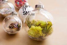 A Mega Roundup of 84 DIY Christmas Ornaments | Terrarium in a bulb