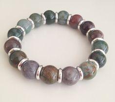 Indian agate bracelet by Hellenna on Etsy, £15.00