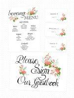 Handdrawn Wedding Printables