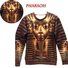 Hot!!!2013 Women/men Fashion Pharaoh Print 3D Sweater space pulloevrs