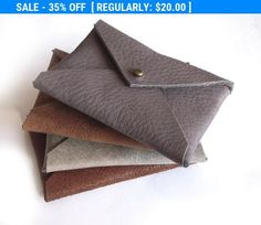 Set of 2 mens card wallet leather card holder simple leather mens wallets buy one get 1 free business card leather holder envelope card case leather card holder gift for him christmas gift reheart Choice Image
