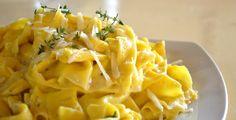 Παπαρδέλες με Σκόρδο και Κρέμα Παρμεζάνας - Food's Book