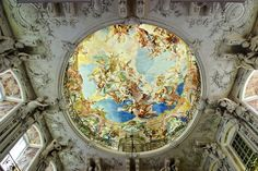 Detail of Augustusburg Palace Staircase Dome - Palaces | Pinterest ...