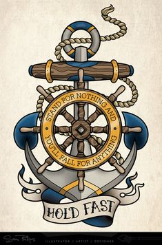 Tattoo Commissions — Sam Phillips - Tattoo Commissions — Sam Phillips Best Picture For diy furniture For Your Taste You are looking - Marine Tattoos, Navy Tattoos, Anchor Tattoos, Mom Tattoos, Old School Tattoo Vorlagen, Ship Wheel Tattoo, Nautical Tattoo Sleeve, Anker Tattoo Design, Sam Phillips