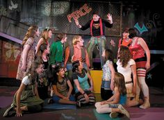 The cast of Godspell practice for dinner theater performances, which begin Friday at 6:30. Description from archive.decaturdaily.com. I searched for this on bing.com/images
