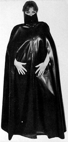 Vintage Black Rubber Cape