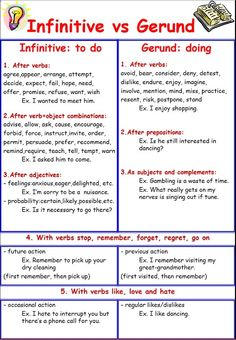 English teacher: Gerunds and Infinitives More