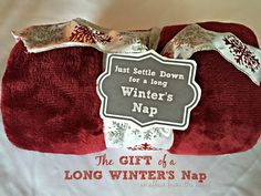 These throw blankets with cute tags make GREAT gifts. For teachers, neighbors, co-workers, you name it! Who doesnt like a new fuzzy soft warm blanket? Give the gift of sleep for the holiday! christmas gifts for teachers Crochet Christmas Gifts, Neighbor Christmas Gifts, Christmas Gift Baskets, Christmas Gifts For Friends, Neighbor Gifts, Cute Gifts, Holiday Gifts, Christmas Ideas, Holiday Ideas