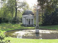 Ionic Temple in the Orange Tree Gardens designed by William Kent in 1765, Chiswick House, London, England