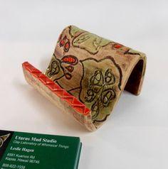 Decorative Ceramic Business Card Holder by Uturn on Etsy, $10.00