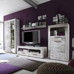 Boom Living Room Set In Oak With LED Lights Living room sets