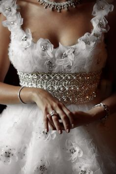 Ana Rosa....<Such a BEAUTIFUL bodice! I wish I could see the rest of this dress!..K♥