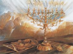 Chanukah Lithograph - Limited Edition Judaica Lithographs