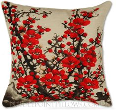 Chinese Plum Blossom Pillow