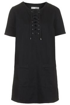 Leave it to topshop to come up with Spring's coolest dress (black denim!)
