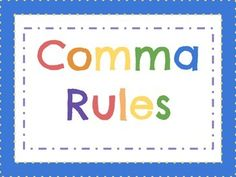 This bundle includes 36 colorful posters! COMMA RULES:a title page and 12 posters of the most common comma rules. Each poster has the rule and an example.PUNCTUATION:Title poster, Apostrophe, Colon , Comma, Dash, Ellipsis,Exclamation Point, Hyphen, Parentheses, Period, Semicolon, Question Mark, Quotation MarkEach poster includes a title, description of the punctuation mark, and the punctuation mark itself.EIGHT PARTS OF SPEECH:This set includes a title poster and one poster for each part of…