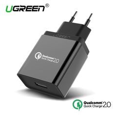 Ugreen Qualcomm Quick Charge 3.0 2.0 Fast Mobile Phone Charger USB Travel Charger for Samsung S5 S6 LG G4 Xiaomi 3 Quick Charger -- Vy mozhete uznat' boleye podrobnuyu informatsiyu po ssylke izobrazheniya.