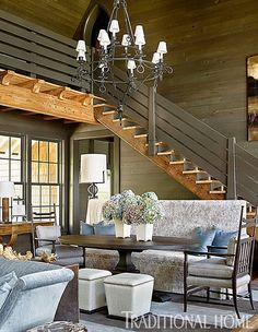Mix and Chic: Home tour- A beautiful lakeside home in Alabama!