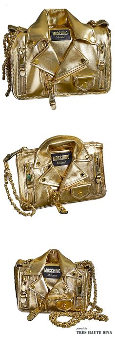 Moschino Resort 2015 The House of Beccaria Mk Handbags, Handbags Michael Kors, Michael Kors Bag, Gold Fashion, Fashion Bags, Unique Purses, Mk Bags, Kylie Minogue, Bling Bling