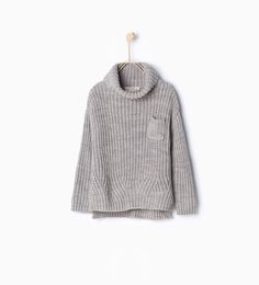 Image 1 of Polo neck knit sweater from Zara
