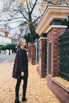 Love the brick columns and iron fence!! // Source: acupofstyle.com via sheslikeaghost