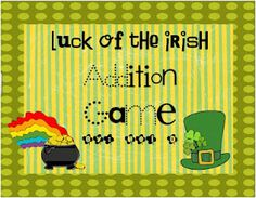 Free St. Patrick's Day addition game 0-12's