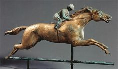 Running horse with jockey weathervane, New York, New York, circa 1890