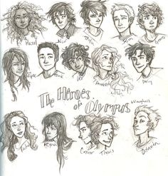 Percy jackson characters... this is how i pictured all of them