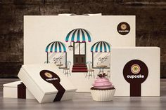 Bakery & Cake #Packaging. Anytime is cupcake time PD