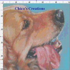 Cross Stitch Pattern Golden Retriever Dog A111 | eBay