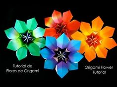 Origami Maniacs 132: Origami Clematis - YouTube