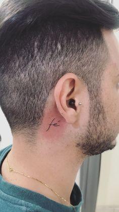 Tatuagem Fé Tattos, Ear, Male Tattoo, Telephone, Tattoos, Wall