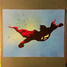 superman spraypaint stencil by toolowbrow on DeviantArt