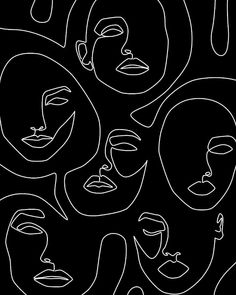 Abstract Face Art, One Line Face Drawing Sketch Modern Illustration Prints, Printable Minimalist Line Art Print, Large Prints Wall Art Decor Wit And Delight, Arte Sketchbook, Art Drawings, Drawing Faces, Face Line Drawing, Art Faces, Drawing Drawing, Male Drawing, Human Drawing