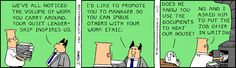 Let us never go paperless.... - The Dilbert Strip for January 17, 1995