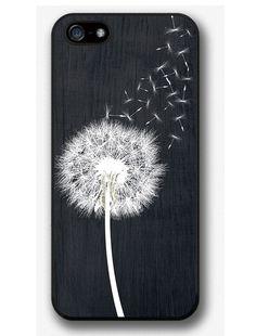 966a149ac53 Dandelion On Black Wood Design Case For IPhone 4 4s 5 5s 5c 6 6 Plus 6s 6s  Plus
