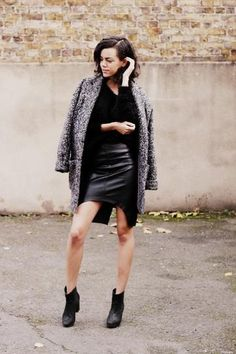 Stylish Fall Outfits to Build Around a Black Skirt | StyleCaster
