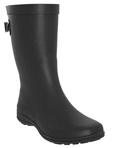 LA Gear Matte Solid with Back Gusset MidCalf Body Rain Boot Black Combo 10 *** For more information, visit image link.(This is an Amazon affiliate link and I receive a commission for the sales)