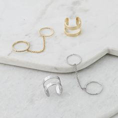 Multi Ring With Chain Link
