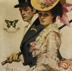 Easter: a large-sized painting by  J.C. LEYENDECKER