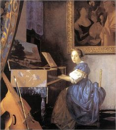 Vermeer - lady seated at a virginal