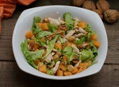 Denny Chef Blog: Insalata di pollo, ceci melone e noci