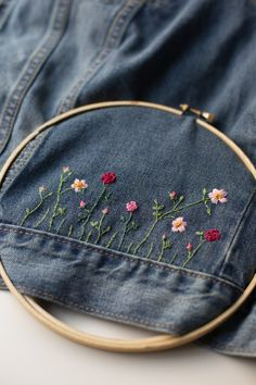 Make a Fabulous DIY Embellished Jean Jacket - Flax & Twine