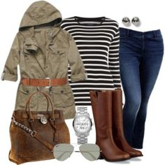 """""""Fall Olive - Plus Size"""" by alexawebb on . Winter Outfits, Casual Outfits, Cute Outfits, Fashion Outfits, Women's Fashion, Night Outfits, Casual Wear, Fashion Ideas, Curvy Girl Fashion"""