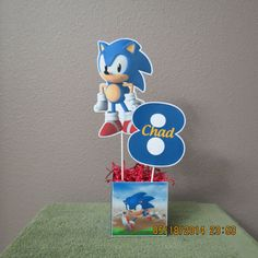 Sonic the Hedgehog Centerpiece DIY by ScrapbookSolutions on Etsy