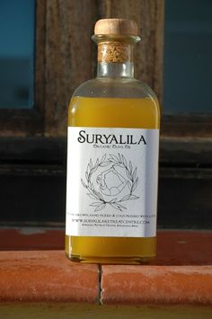 Our home made olive oil. Literally made here at our home on the lovely olive grove. #HomeGrown #Local #Suryalila