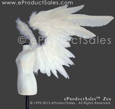 Original eProductSales white Feather Angel ZEN Wings designed for Ball-Jointed Dolls, these BJD Wings are available several colors on our eProductSales website! Fairy Dolls, Bjd Dolls, Diablo Cosplay, Feather Angel Wings, Fairy Wings, Cosplay Wings, Zombie Walk, Fantasy Gowns, Wings Design